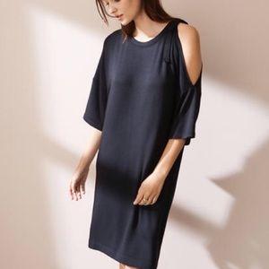 NWT Lou & Grey one shoulder dress Sz S